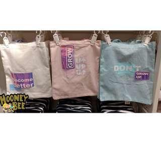 Original Miniso - Laser series Tote bag - 3 warna Totebag