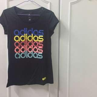 Adidas 愛迪達 彩色LOGO漸層短袖T恤 黑色 S 全新