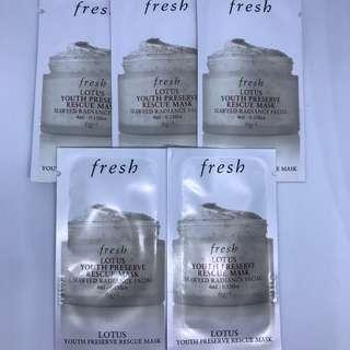 【包郵】fresh 睡蓮青春活膚速效面膜LOTUS YOUTH PRESERVE RESCUE MASK