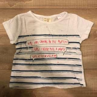 🚚 Zara短袖上衣9-12M