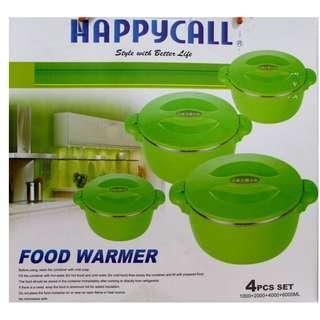 Wadah Makanan Food warmer Happy Call Tempat Makanan bagian luar terbuat dari bahan plastik pvc