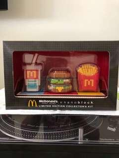 McDonald's Japan Nanoblock Ltd Ed collector's kit
