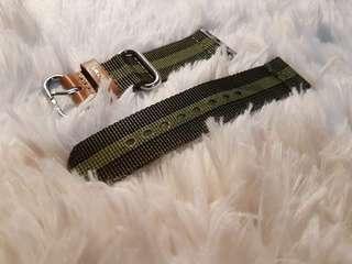 Apple Watch 42mm Toms Green Stripe Strap (RUSSHH!!!)