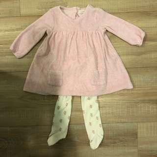 Next氣質洋裝+褲襪6-9M