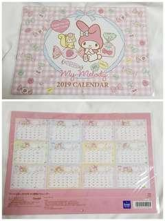 My Melody calendar 2019 月曆