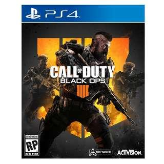 PS4 CALL OF DUTY BLACK OPS 4 R3 CHN/ENG