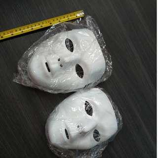 $2 each White acting stage mask 2 sizes 20cm and 18cm