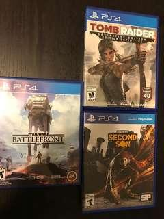 3-pack of Classic PS4 Games