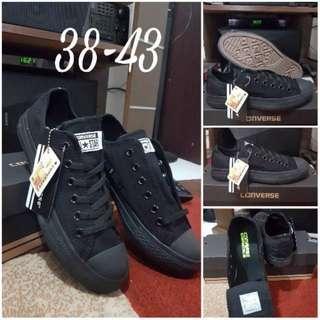 Converse Hitam Full Black