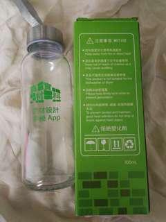 玻璃水樽 300ml water glass bottle