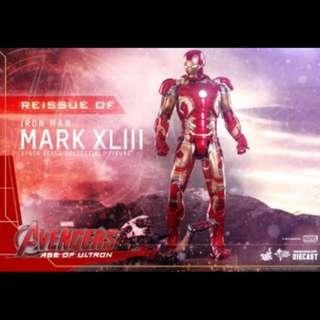 Pre- Order : Hot Toys Avengers Age Of Ultron Ironman Mark 43 Mk XLIII