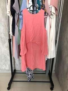 Tuulla salmon pink dress