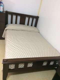 Bed double size (bed frame and foam)