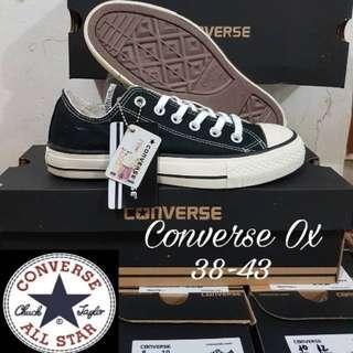 Sepatu Allstar Classic Black Low