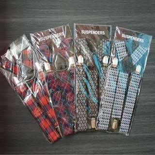 $8 each men's broad suspenders 4 colors