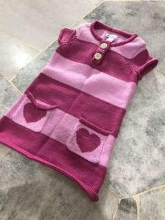 FREE POSTAGE Baby Girl Knitted Dress Zara Winter Time