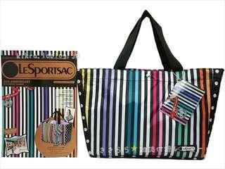 Lesportsac 40th週年 特別版 彩虹直紋 索繩 單膊/手挽袋 (Tote Bag) ~ 🇯🇵日本雜誌附錄袋