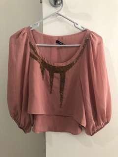 Dusty Pink Crop
