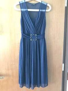 🛍Fond Navy Blue Chiffon Evening Dress
