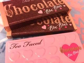 REduced To clear Brand New Too Faced Chocolate Bon Bons Sephora