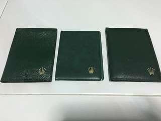 (RARE SET) Vintage Rolex Tool Kit Card Holders
