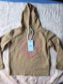 Shana kids brown sweater with hoodie