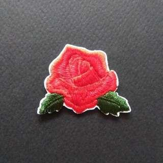 Rose Craft Flower Iron On Patch