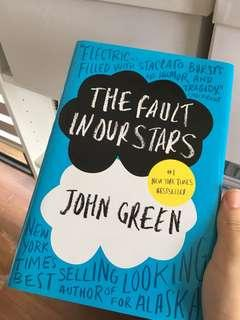 the fault in our stars TFIOS by John Green (hard cover)