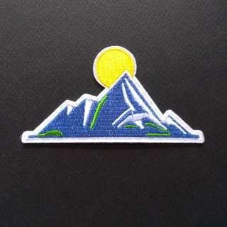 Mountain Hiking Sun Iron On Patch