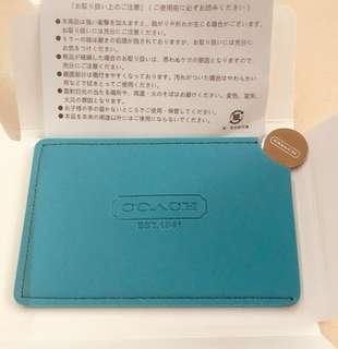 Coach 藍綠色 日本專門店 限量版 贈品鏡子 連原裝盒 日文說明書 ~ 專櫃VIP贈品