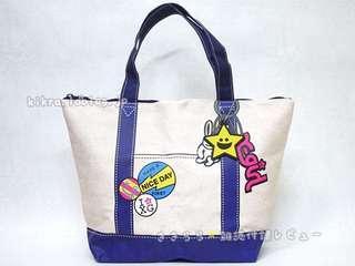 X-girl 可愛圖案 單膊/手提袋 (Tote Bag)~ 🇯🇵日本雜誌附錄袋