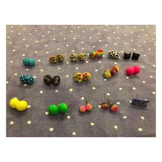 [CLAIRE'S] Assorted Stud Earrings (Take ALL)