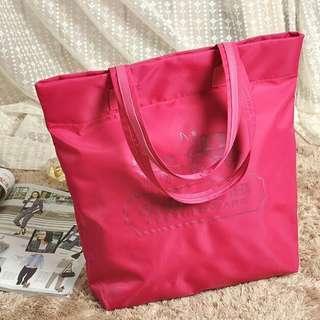 Coach 經典logo 粉紅色 超輕 磁石扣 單膊/手挽袋 (Tote Bag) ~ 專櫃vip贈品