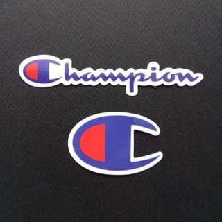 Champion Logo Sticker Luggage Laptop Skateboard (one piece)