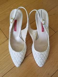 Made in Korea White Lace Shoes