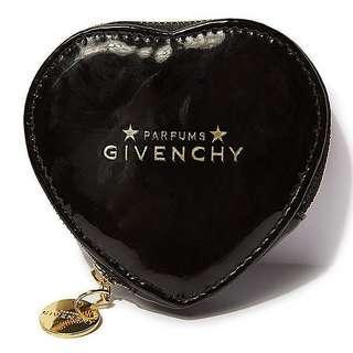 Givenchy Parfums 黑色 心形 拉鏈 散紙包 ~ 專櫃VIP贈品