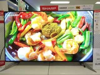 """Sharp LED 60"""" Smart TV 4K Promo Kredit Tanpa CC Gratis 1x Cicilan Proses Cepat"""
