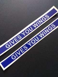 Give You Wings Motorbike Helmet Reflective Sticker (one piece)