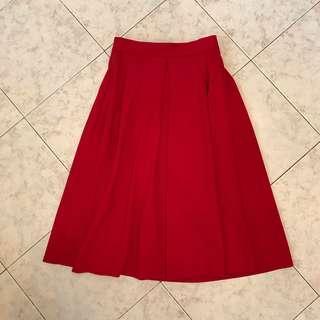 GU Red skirt Dress