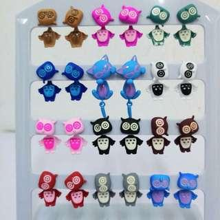 12pairs Tassel earrings