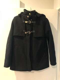 Black coat with gold detailing - fits 8