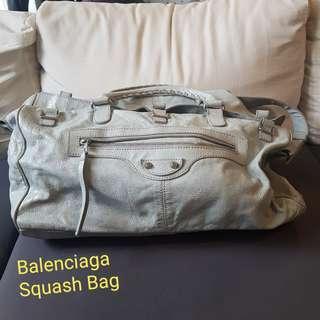 Authentic Balenciaga Squash Bag Cement
