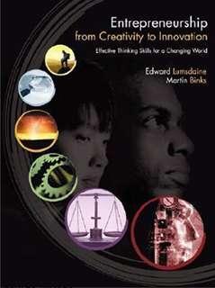 Entrepreneurship from Creativity to Innovation textbook