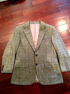 美品Burberry喀什米爾羊毛西裝外套 vintage 古著