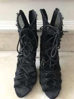 Preloved ZARA Strap ankle boot heels