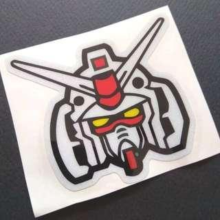 Gundam Sticker Luggage Laptop Skateboard Reflective 3M