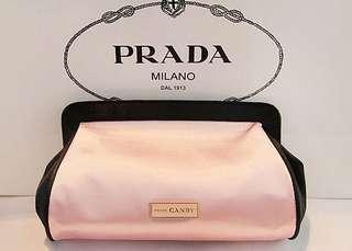 Prada Candy 淺粉紅色 晚裝袋 化妝袋 ~ 專櫃VIP贈品