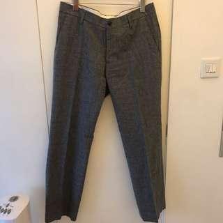 35吋格仔西褲