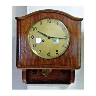 "1960's VINTAGE MAUTHE GERMAN WALL CLOCK WITH ""BIN BUM"" CHIME"