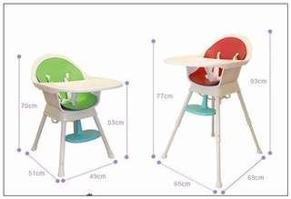 兒童餐椅Creative Baby (創寶貝) - 二合一成長型餐椅